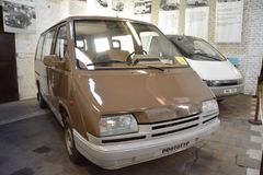 Museum of Transport Bratislava - MNA 900 prototype. Brown MNA 900 van prototype made in Bratislavské automobilové závody stock images