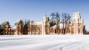 Museum Tsaritsyno i Moskva, Ryssland Fotografering för Bildbyråer