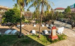 Museum Tuol Sleng/21 Genozid, Phnom Penh, Kambodscha Stockbild