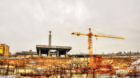 Museum under construction at Cascade complex in Yerevan Stock Photography