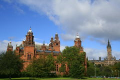 Museum & university. Kelvingrove museum & glasgow university in the one picture Royalty Free Stock Photo