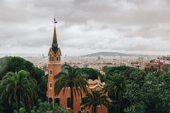 Museum van Antoni Gaudi in park Guell, Barcelona, Spanje royalty-vrije stock foto's