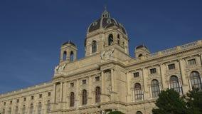 Museum van Beeldende kunsten in Wenen stock videobeelden