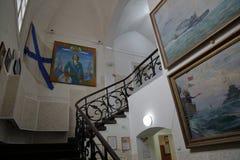 Museum van de Baltische Vloot, Baltiysk, Rusland stock foto's