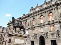 Museum van de burgers van de buiten de voorgevelbouw van Mexico royalty-vrije stock afbeelding