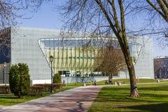 Museum van de Geschiedenis van Poolse Joden, Warshau royalty-vrije stock afbeelding