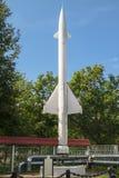 Museum van de Krachten van de luchtdefensie Eerste Sovjet luchtafweergeleid projectiel s-25 Royalty-vrije Stock Afbeelding