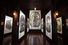 Museum van de de schaduwmarionet van Wat Khanon het oude Stock Afbeeldingen