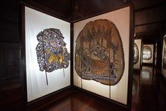 Museum van de de schaduwmarionet van Wat Khanon het oude Stock Foto's