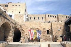 Museum van de stad van de Kruisvaarders in Acre royalty-vrije stock foto's