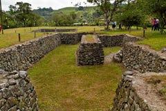 Museum van de Tulipe het Archeologische plaats, Ecuador Stock Foto