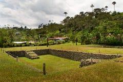 Museum van de Tulipe het Archeologische plaats, Ecuador Royalty-vrije Stock Foto