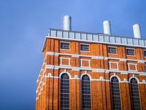 Museum van Elektriciteit de plaatsen van het de bouwdetail Stock Fotografie