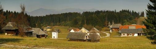 Museum van het Slowaakse Dorp Stock Foto