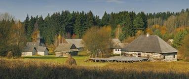 Museum van het Slowaakse Dorp Stock Afbeeldingen