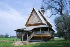 Museum van houten architectuur royalty-vrije stock afbeelding