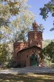 Museum van koning Sobieski - Wilanow in Warshau De middeleeuwse Bouw royalty-vrije stock afbeeldingen