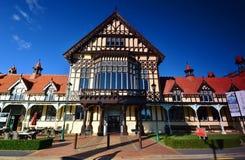 Museum van Kunst en Geschiedenis, Rotorua Ergens in Nieuw Zeeland Royalty-vrije Stock Foto's