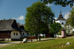 Museum van Liptov-Dorp, Pribylina, Slowakije Royalty-vrije Stock Fotografie