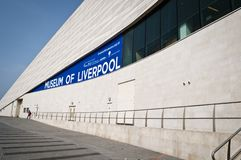 Museum van Liverpool, Pier Head, de Waterkant van Liverpool, het UK stock foto's