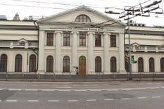 Museum van Privé-collecties van het Museum van de Staat van Beeldende kunsten na Pushkin, het belangrijkste huis worden genoemd v stock fotografie