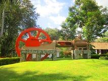 Museum van suikerriet in Cali wordt het gevestigd, toont de cultuur en de levensstijl verbonden aan de cultuur van die installati stock afbeelding