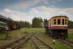Museum van treinen. Rusland Stock Foto