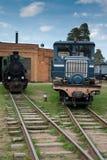 Museum van treinen. Rusland Stock Fotografie