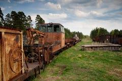 Museum van treinen. Rusland Royalty-vrije Stock Afbeelding