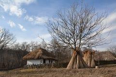 Museum van Volksarchitectuur en Kunst van Chernivtsi stock foto