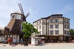 Museum van wijn en brood in het dorp van het Grondgebied van arkhipo-Osipovka Krasnodar, Royalty-vrije Stock Foto