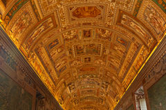 The Museum of Vatican. Yhe fresco in  The Museum of Vatican, Rome, Italy Stock Photography