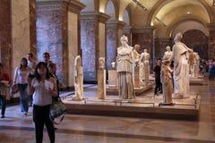Museum visitors in Paris Stock Image