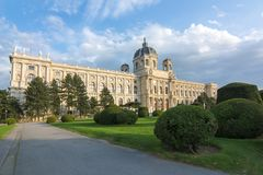 Museum von Art History Kunsthistorisches-Museum auf Maria Theresa-Quadrat Maria-Theresien-Platz in Wien, Österreich stockfoto