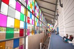 Museum von modernem und zeitgenössischem Artm Straßburg, Frankreich, augus Lizenzfreie Stockbilder