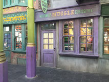 Museum von Muggle-Kuriositäten, Universal Studios, Orlando, FL Lizenzfreie Stockfotografie