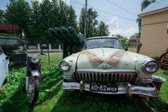 Museum von Retro- Autos: GAZ M21 Volga lizenzfreies stockfoto