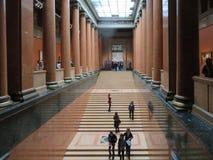 Museum von schönen Künsten in Moskau kolonnade innen lizenzfreie stockbilder