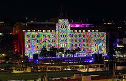 Museum von zeitgenössischen Art Building farbigen Quadraten Stockfoto