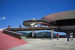 Museum voor moderne kunst (MAC) in Niteroi - Rio de Janeiro Brazilië Stock Afbeeldingen