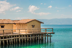 Museum on water - Bay of the bones - Ohrid, Macedonia Stock Photography
