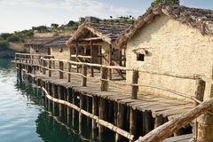 Museum on the water - Ohrid. Stock Photos
