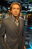 Museum. Wax statuette Nicolas Cage in the Grevin Wax Museum in the capital city of Prague in the Czech Republic Stock Photo