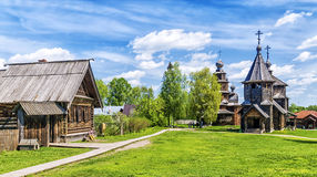 Museum of wooden architecture in Suzdal, Russia Stock Photo
