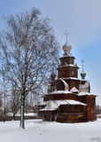 Museum of wooden architecture in Suzdal Stock Photos