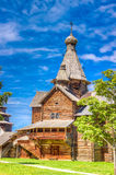 Museum  wooden architecture Vitoslavlitsy village street house C Royalty Free Stock Photography