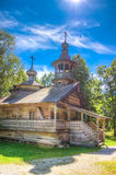 Museum  wooden architecture Vitoslavlitsy village street house C Royalty Free Stock Photos