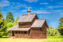 Museum  wooden architecture Vitoslavlitsy village street house C Royalty Free Stock Image