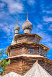 Museum  wooden architecture Vitoslavlitsy village street house C Royalty Free Stock Photo