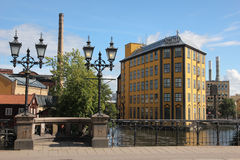 Museum of Work. Industrial landscape. Norrkoping. Sweden Stock Photography